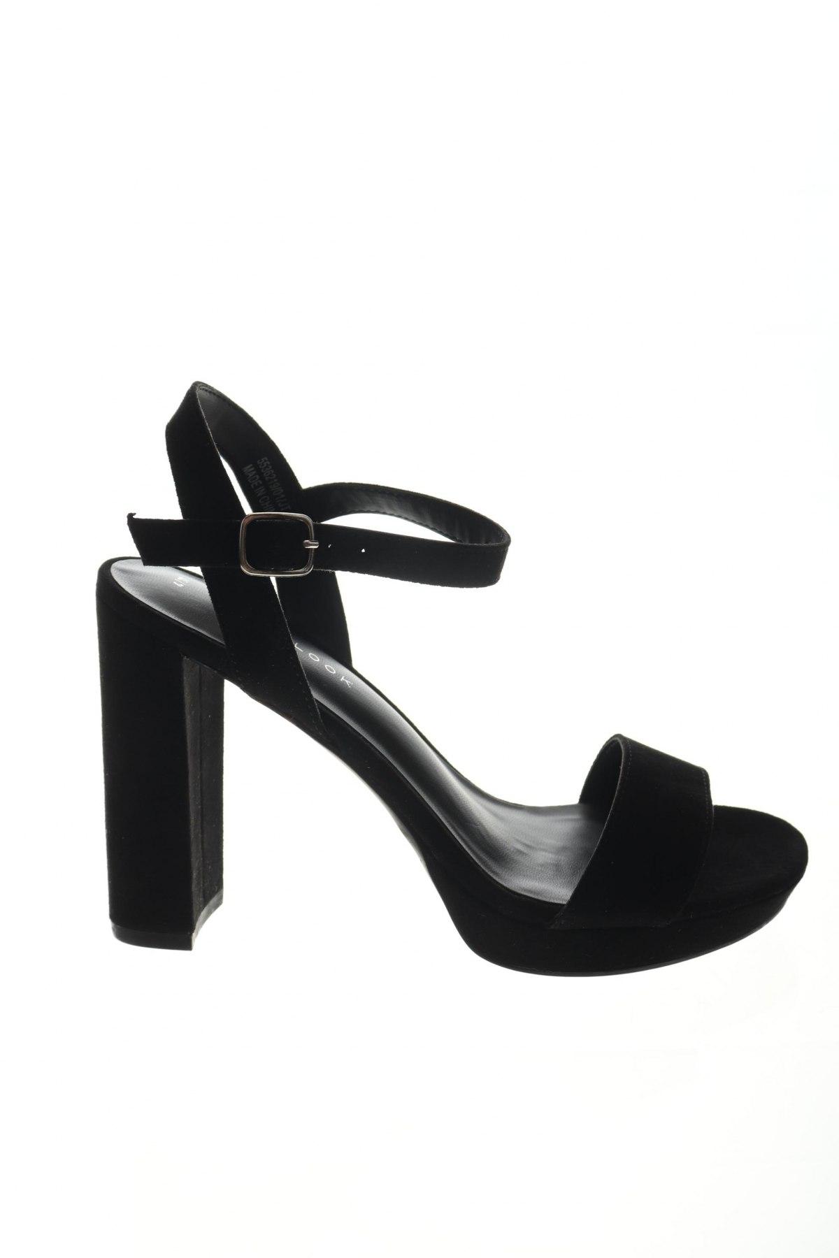 Σανδάλια New Look, Μέγεθος 37, Χρώμα Μαύρο, Κλωστοϋφαντουργικά προϊόντα, Τιμή 15,54€