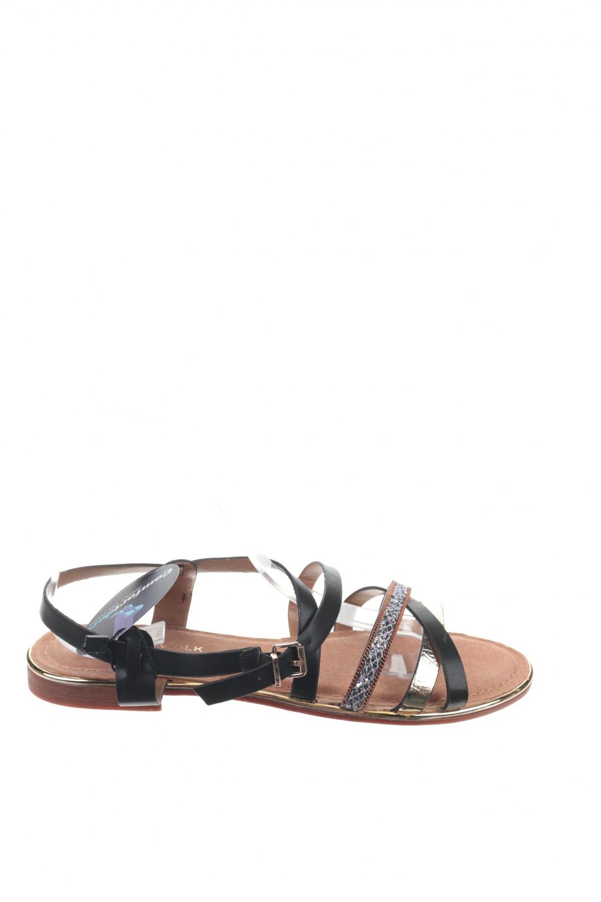 Сандали Nicewalk, Размер 40, Цвят Черен, Еко кожа, текстил, Цена 19,76лв.