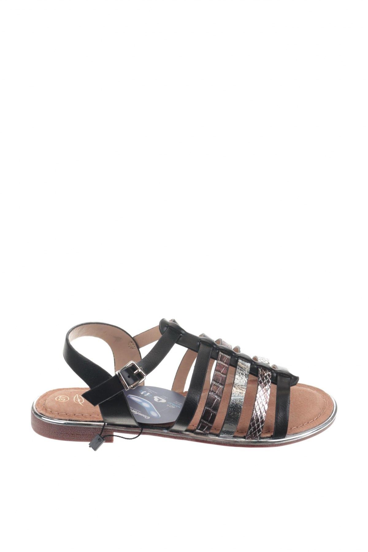 Сандали Nicewalk, Размер 37, Цвят Черен, Еко кожа, Цена 22,36лв.