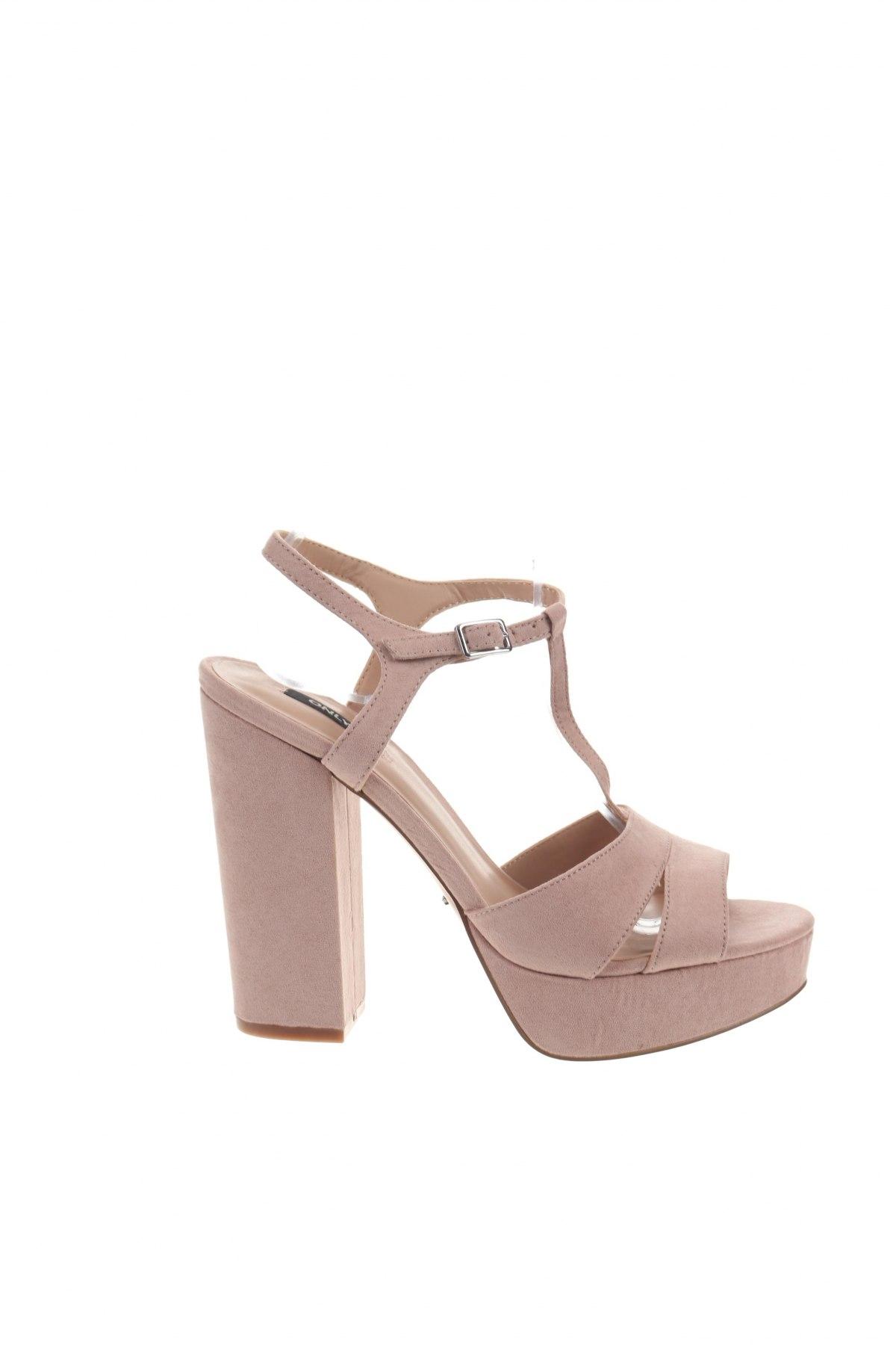 Σανδάλια ONLY, Μέγεθος 39, Χρώμα Ρόζ , Κλωστοϋφαντουργικά προϊόντα, Τιμή 18,85€