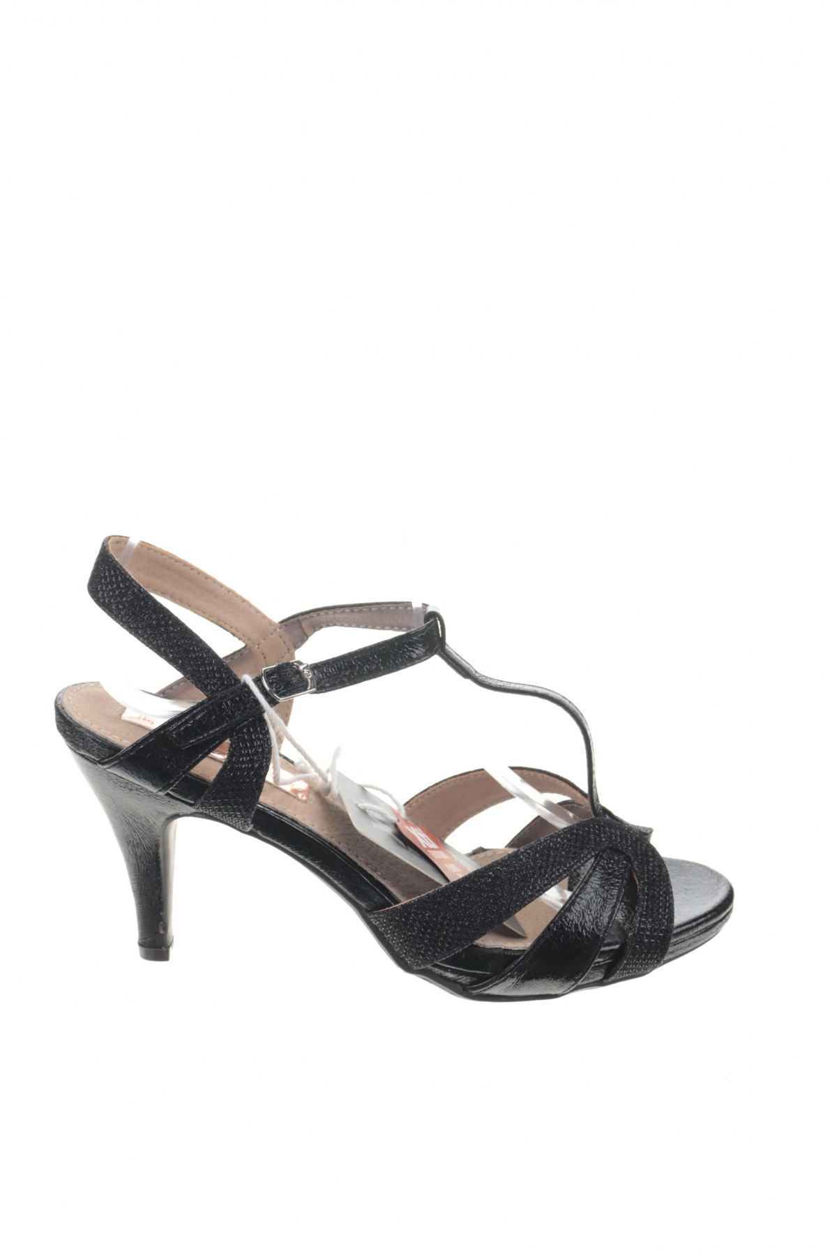 Σανδάλια Xti, Μέγεθος 37, Χρώμα Μαύρο, Δερματίνη, κλωστοϋφαντουργικά προϊόντα, Τιμή 16,73€