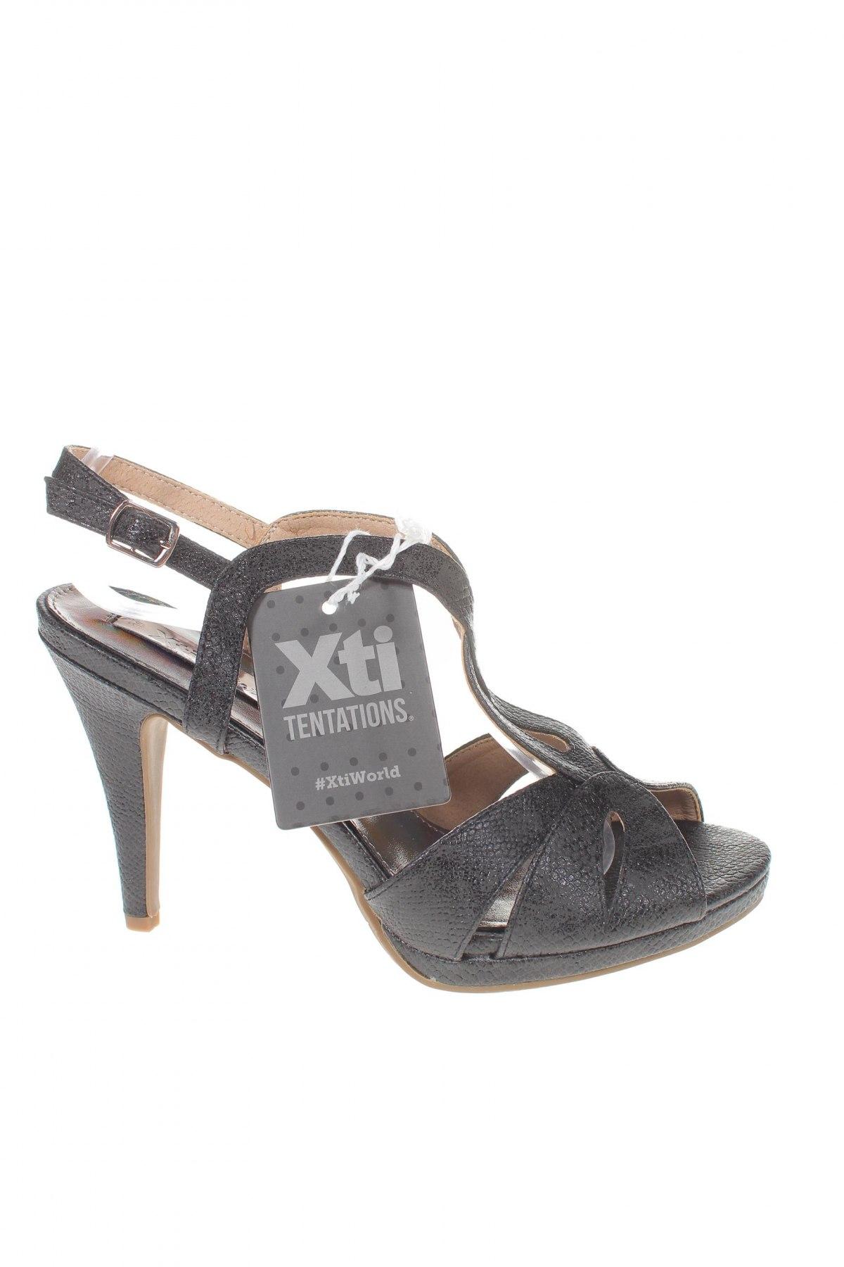 Σανδάλια Xti, Μέγεθος 39, Χρώμα Μαύρο, Δερματίνη, Τιμή 17,64€
