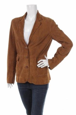 Γυναικείο δερμάτινο σακάκι Zara