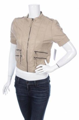Γυναικείο δερμάτινο μπουφάν Zara