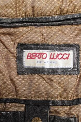 7efcac863267 Ανδρικό δερμάτινο μπουφάν Berto Lucci - σε συμφέρουσα τιμή στο Remix ...