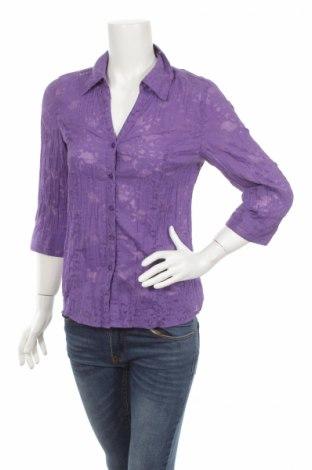 Γυναικείο πουκάμισο Canda, Μέγεθος S, Χρώμα Βιολετί, 55% βαμβάκι, 45% πολυεστέρας, Τιμή 15,46€