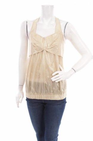 Γυναικείο αμάνικο μπλουζάκι Capasca, Μέγεθος XS, Χρώμα  Μπέζ, Βαμβάκι, Τιμή 5,10€