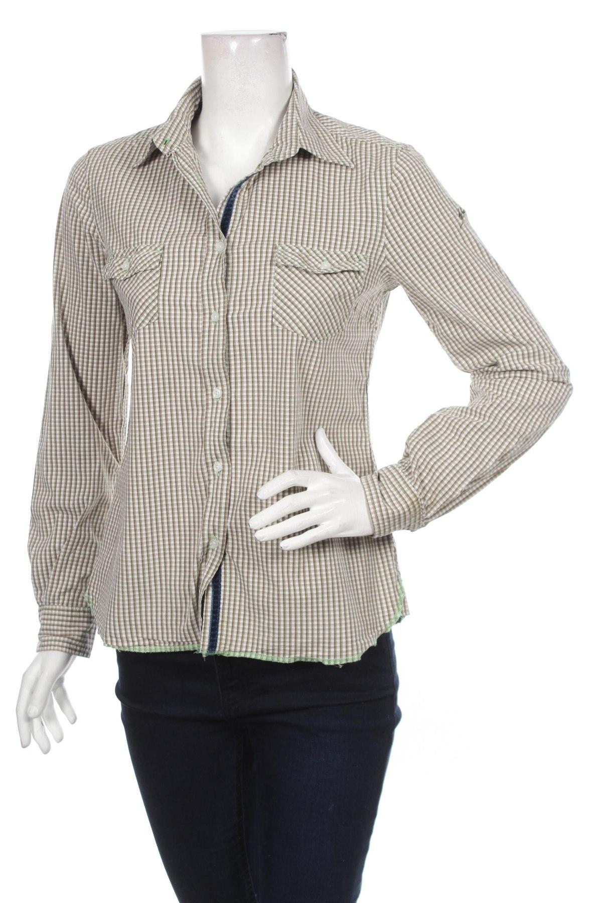 Γυναικείο πουκάμισο Blue Fire, Μέγεθος M, Χρώμα Πράσινο, Τιμή 14,23€