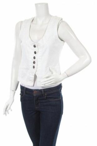 Дамски елек Okay, Размер S, Цвят Бял, 98% памук, 2% еластан, Цена 17,85лв.