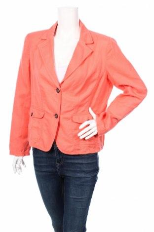 Дамско сако Vera Varelli, Размер L, Цвят Розов, 55% лен, 45% памук, Цена 23,80лв.