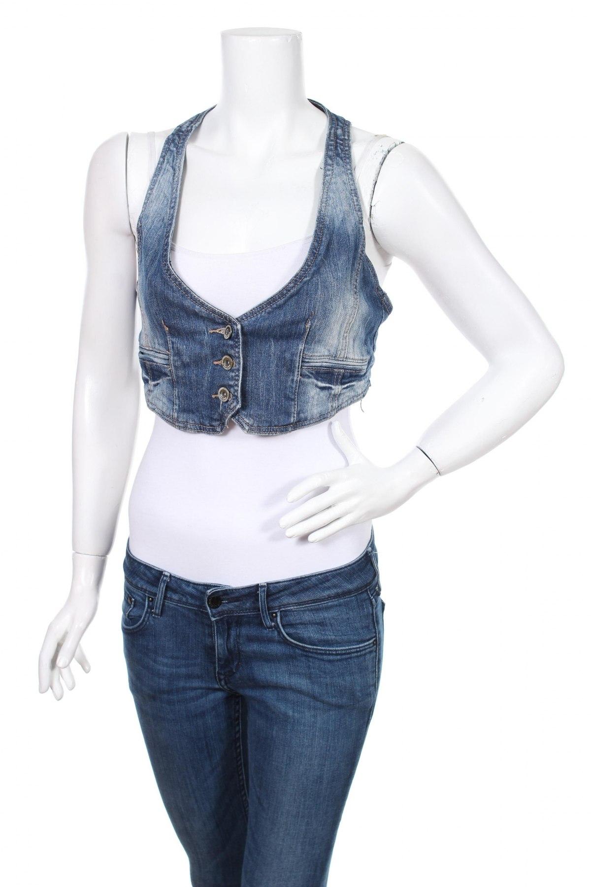 Дамски елек Fresh Made, Размер S, Цвят Син, 100% памук, Цена 20,40лв.