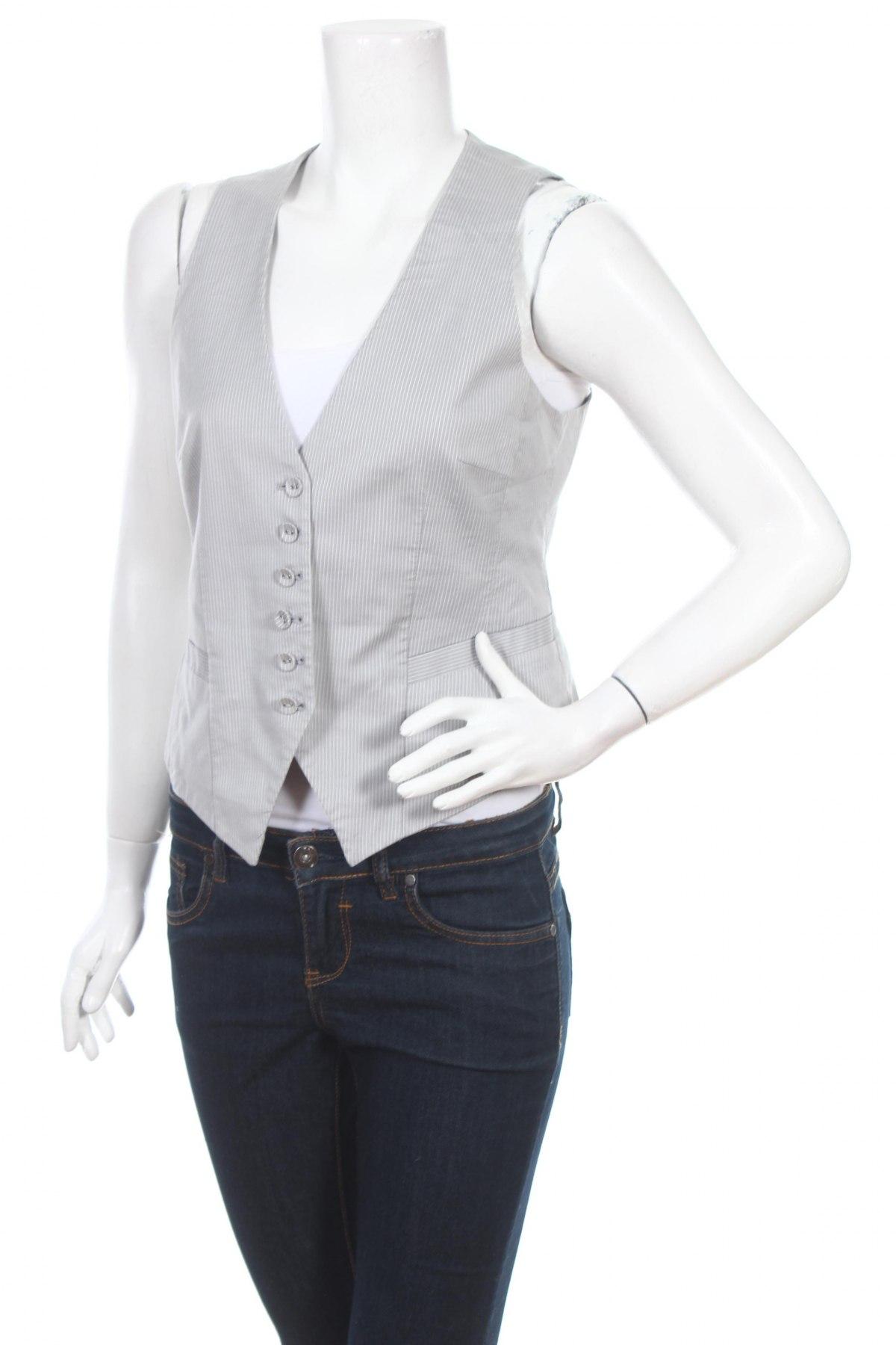 Дамски елек H&M, Размер M, Цвят Сив, 82% памук, 16% полиамид, 2% еластан, Цена 22,10лв.