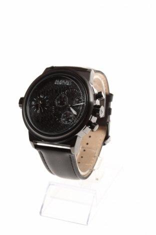 Часовник August Steiner, Цвят Черен, Естествена кожа, метал, Цена 192,25лв.