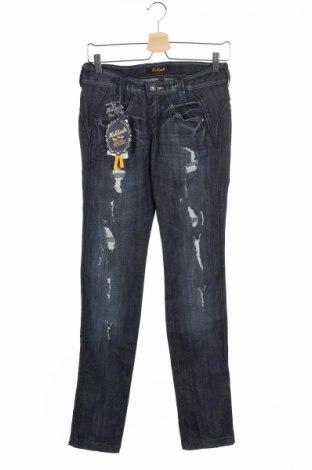 Дамски дънки Killah, Размер XS, Цвят Син, 98% памук, 2% еластан, Цена 18,72лв.
