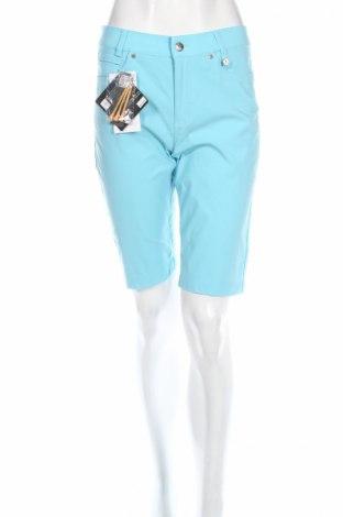 Дамски къс панталон Golfino, Размер S, Цвят Син, 96% полиамид, 4% еластан, Цена 21,84лв.