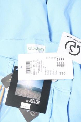 Дамски къс панталон Golfino, Размер XS, Цвят Син, 96% полиамид, 4% еластан, Цена 21,84лв.