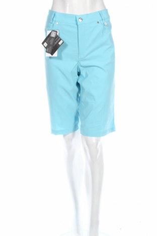 Дамски къс панталон Golfino, Размер L, Цвят Син, 96% полиамид, 4% еластан, Цена 21,84лв.