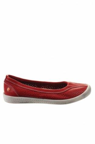 Γυναικεία παπούτσια Softinos, Μέγεθος 38, Χρώμα Κόκκινο, Γνήσιο δέρμα, Τιμή 31,55€