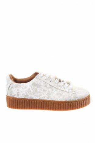 Γυναικεία παπούτσια W.S Shoes, Μέγεθος 40, Χρώμα Λευκό, Κλωστοϋφαντουργικά προϊόντα, Τιμή 11,55€
