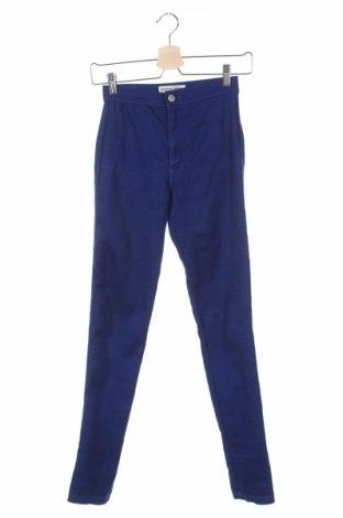 Дамски панталон American Apparel, Размер XXS, Цвят Син, 77% памук, 21% полиестер, 2% еластан, Цена 11,50лв.