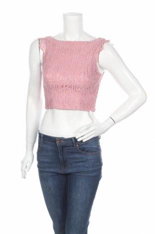 Γυναικείο αμάνικο μπλουζάκι Chi Chi, Μέγεθος XS, Χρώμα Ρόζ , Πολυεστέρας, Τιμή 9,28€