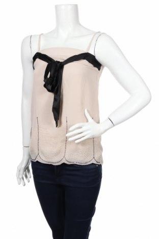 Tricou de damă Promod, Mărime XXS, Culoare Bej, Poliester, Preț 11,05 Lei
