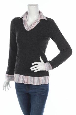 Дамски пуловер Clara Vitti, Размер XS, Цвят Сив, Цена 6,50лв.