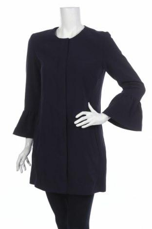 Palton de femei Mbym, Mărime S, Culoare Albastru, 63% poliester, 33% viscoză, 4% elastan, Preț 168,61 Lei