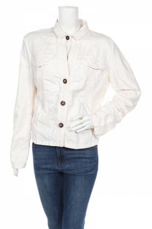 Дамско яке Rene Lezard, Размер XL, Цвят Бял, 63% памук, 35% лен, 2% еластан, Цена 15,86лв.