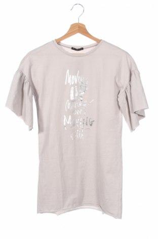 Детска блуза Sisley, Размер 8-9y/ 134-140 см, Цвят Сив, Вискоза, Цена 14,70лв.