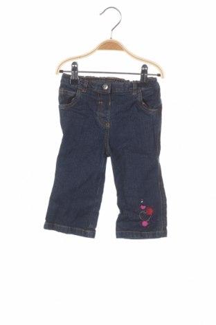 Детски дънки George, Размер 9-12m/ 74-80 см, Цвят Син, 97% памук, 3% еластан, Цена 5,50лв.