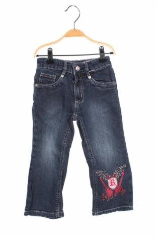 Детски дънки Kikstar, Размер 18-24m/ 86-98 см, Цвят Син, 97% памук, 3% еластан, Цена 6,00лв.