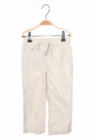 Pantaloni de copii Place, Mărime 3-4y/ 104-110 cm, Culoare Bej, Bumbac, Preț 19,74 Lei