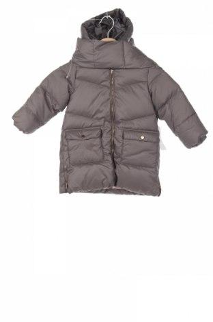 Детско яке Zara, Размер 3-4y/ 104-110 см, Цвят Сив, Полиестер, пух и пера, Цена 74,76лв.