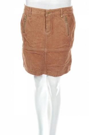 Кожена пола Yessica, Размер M, Цвят Кафяв, Естествена кожа, Цена 17,04лв.