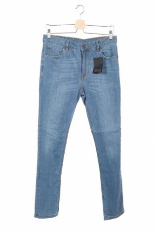 Мъжки дънки Asos, Размер M, Цвят Син, 98% памук, 2% еластан, Цена 29,70лв.