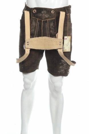 Мъжки къс панталон Stockerpoint, Размер L, Цвят Кафяв, Естествена кожа, Цена 136,50лв.