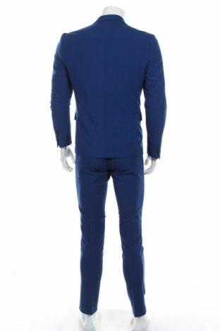 Мъжки костюм Lindbergh, Размер S, Цвят Син, 68% полиестер, 30% вискоза, 2% еластан, Цена 159,00лв.