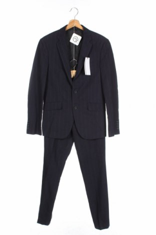 Мъжки костюм Lindbergh, Размер M, Цвят Син, 75% полиестер, 25% вискоза, Цена 186,75лв.