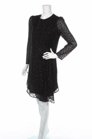 Sukienka Pedro Del Hierro, Rozmiar S, Kolor Czarny, 89% jedwab, 11% metalowe nici, Cena 99,09zł