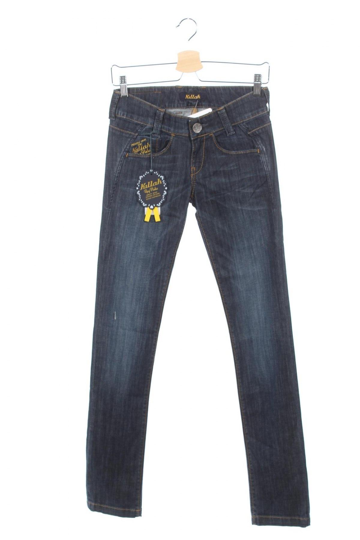 Дамски дънки Killah, Размер XS, Цвят Син, 98% памук, 2% еластан, Цена 19,24лв.
