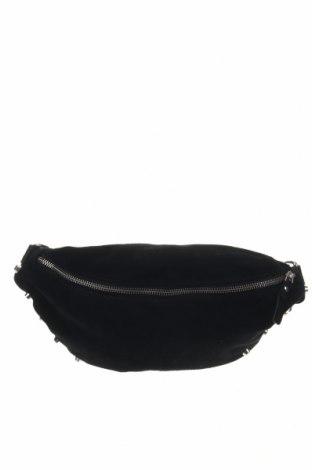 Чанта за кръст, Цвят Черен, Естествен велур, Цена 37,80лв.