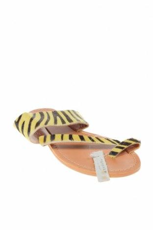 Чехли Topshop, Размер 40, Цвят Жълт, Естествен косъм, Цена 47,17лв.