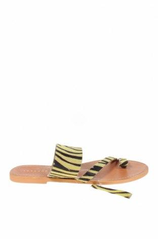 Чехли Topshop, Размер 39, Цвят Жълт, Естествен косъм, Цена 47,17лв.