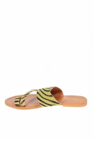 Чехли Topshop, Размер 37, Цвят Жълт, Естествен косъм, Цена 47,17лв.