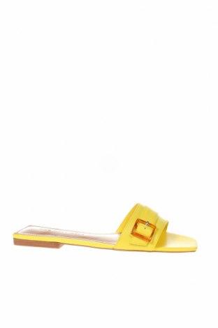 Чехли Who What Wear, Размер 36, Цвят Жълт, Еко кожа, Цена 31,60лв.