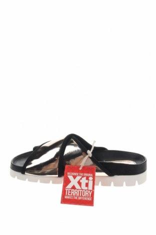 Γυναικείες παντόφλες Xti, Μέγεθος 36, Χρώμα Χρυσαφί, Δερματίνη, Τιμή 13,39€