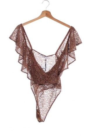 Дамска блуза - боди Na-Kd, Размер M, Цвят Кафяв, 90% полиестер, 10% еластан, Цена 16,07лв.
