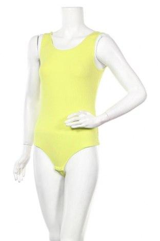 Дамска блуза - боди Pieces, Размер L, Цвят Зелен, 95% памук, 5% еластан, Цена 16,07лв.
