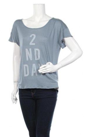 Дамска блуза 2ND Day, Размер L, Цвят Син, Модал, Цена 9,45лв.